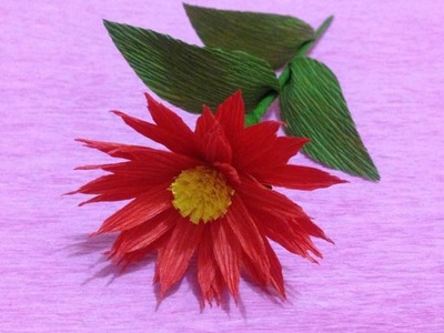 Beautiful Crepe Paper flowers - Flower Making of Crepe Paper - Paper Flower Tutorial