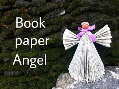 Book paper angel making tutorial