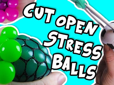 CUTTING OPEN STRESS BALLS toys with Squishy Color Slime - DIY