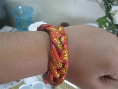 DIY bracelet with newspaper!! | featuring  Niyati