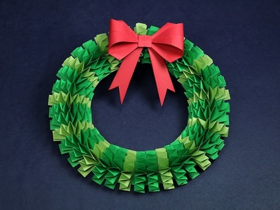 DIY Christmas Wreath | How to Make Accordion Paper Folding Wreath?