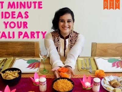 DIY Diwali Party Decor Ideas | Lotus Flower Diya, Mehendi Art Candles, Paper Marigold Flowers