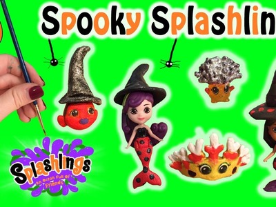 DIY Do It Yourself Custom Halloween Spooky Splashlings & Mermaids + Clay Witch Hats Art Craft