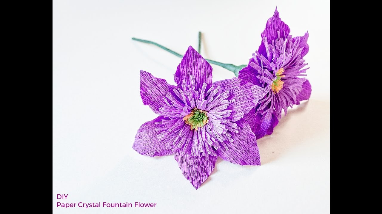 DIY HOW TO MAKE PAPER FLOWERS. Crystal Fountain Flower