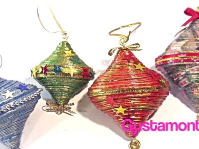 DIY Paper Christmas decorations. Adornos de Navidad