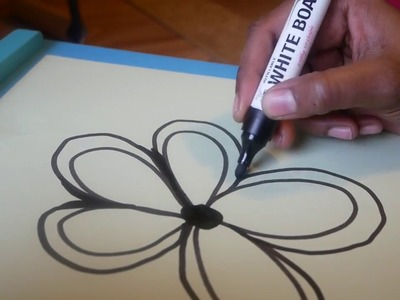 Easy Wall art using paper and Marker- Kids crafts-