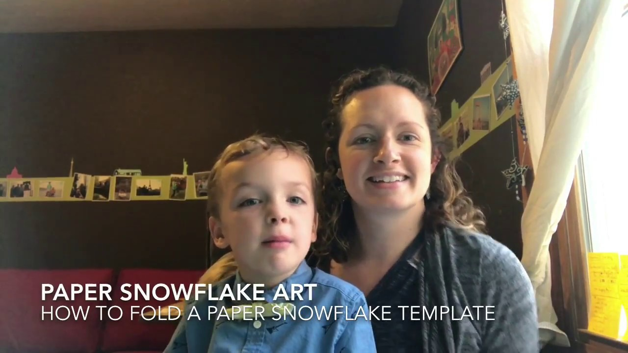 How to fold a Paper Snowflake Art Template