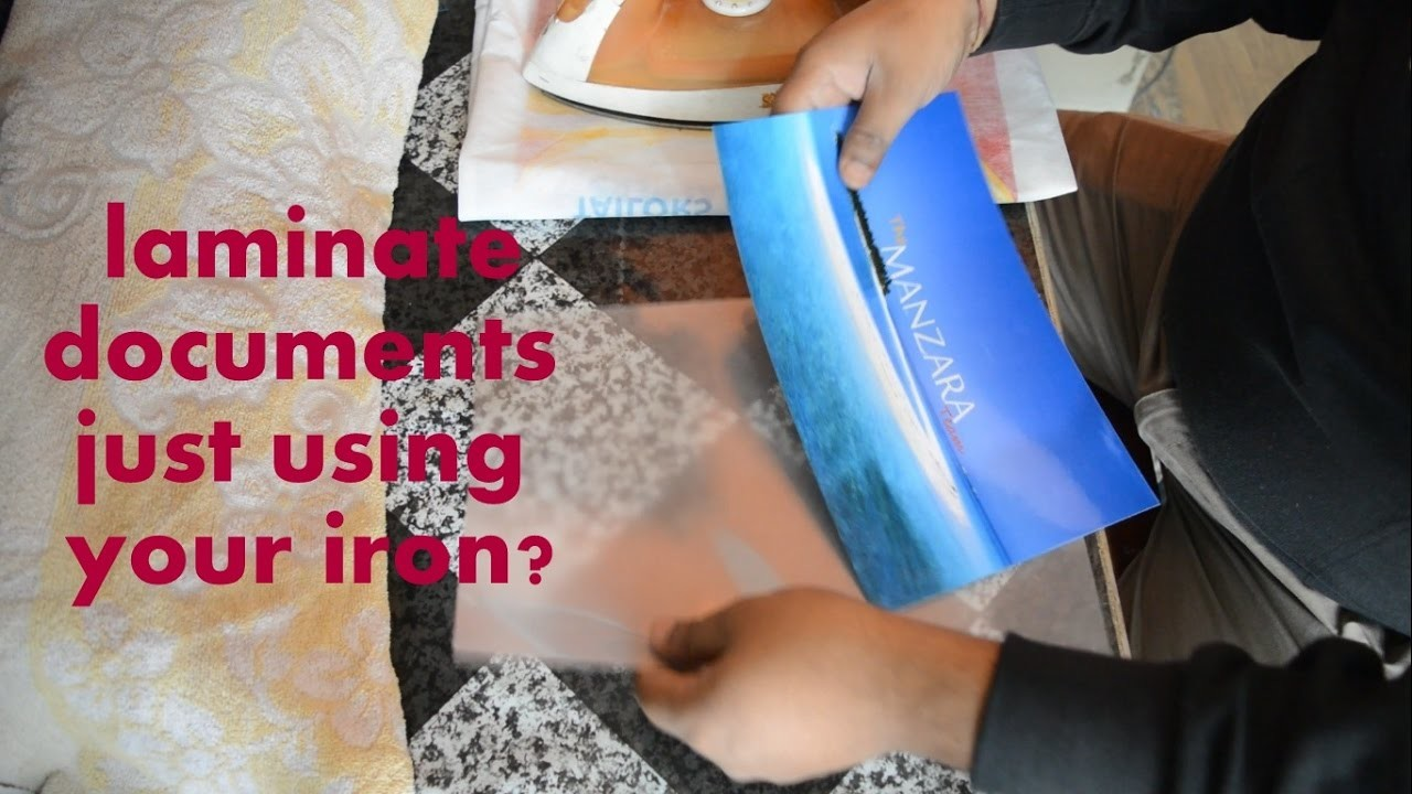 How to laminate without a laminator