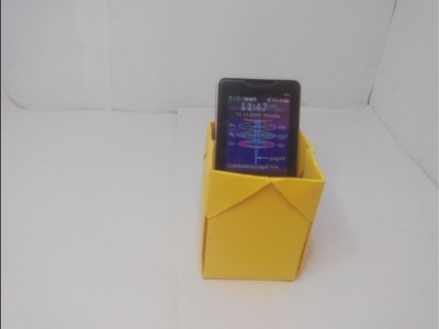 HOW TO MAKE A PHONE HOLDER WITH PAPER