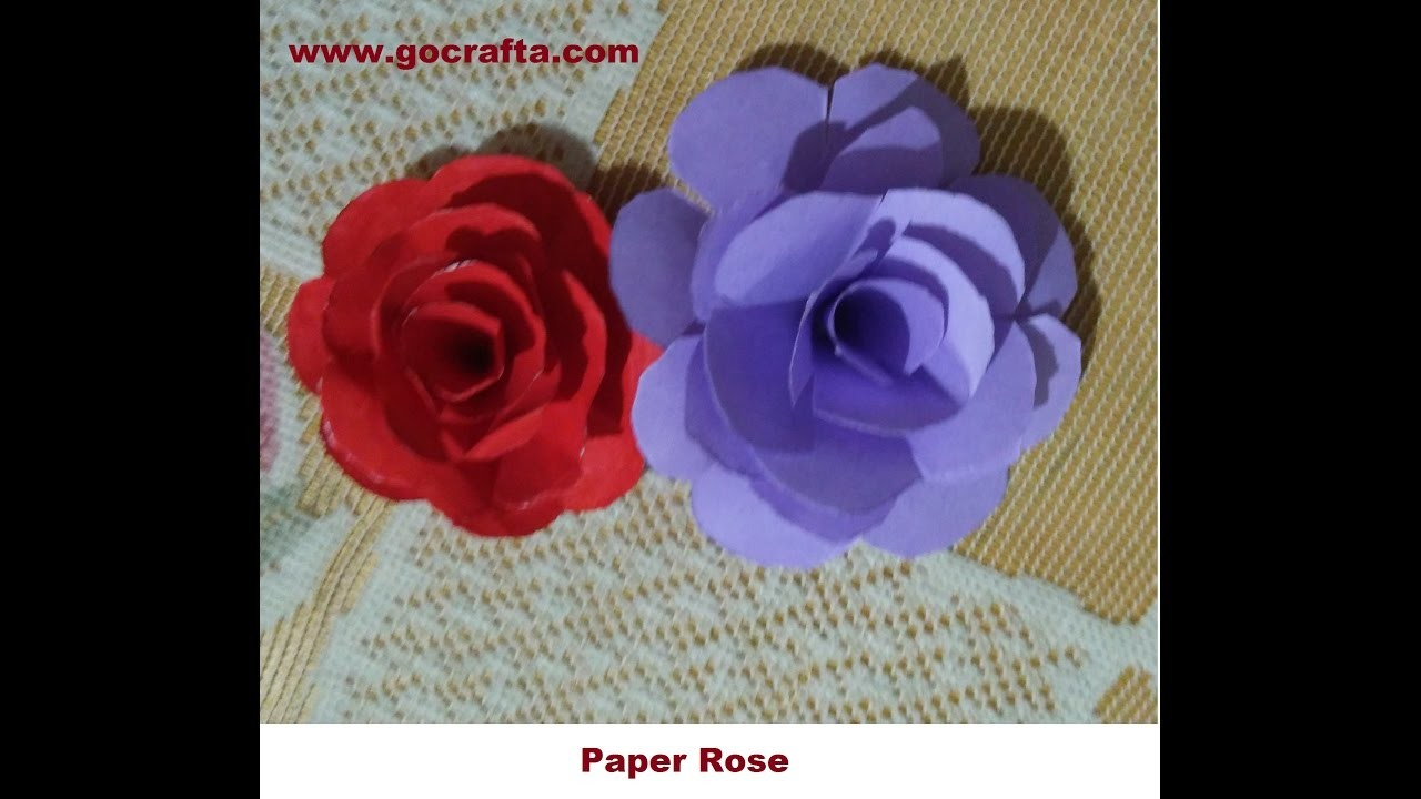 How to make paper rose-step by step  tutorial