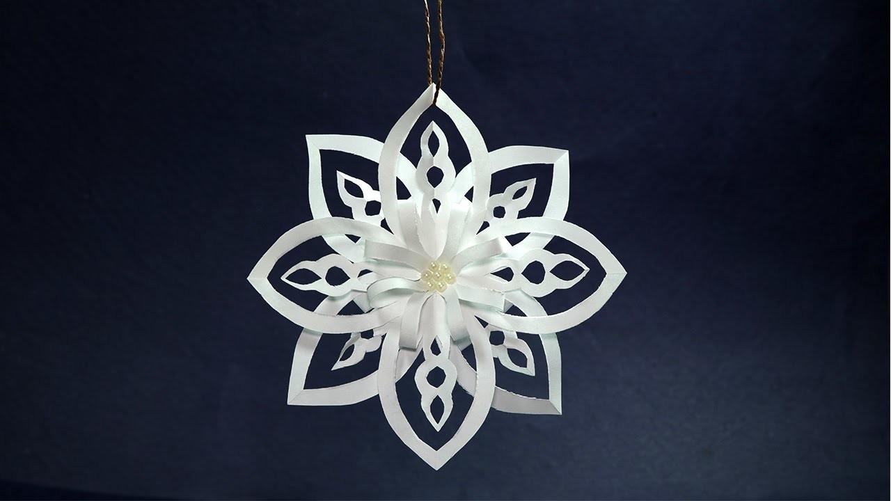 how to make simple diy snowflake chandeliers