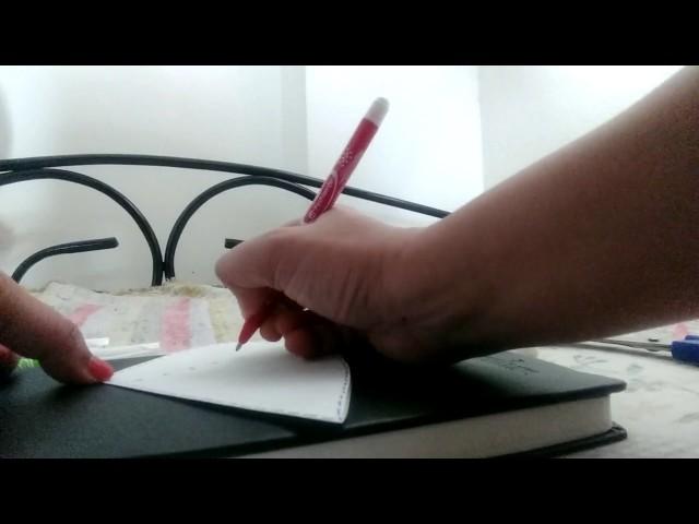 How to make Simple Greeting Card with Paper and Color Pens