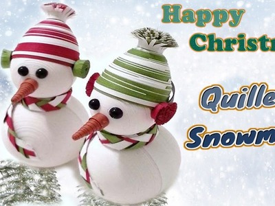 Paper quilling  Christmas special 3D Snowman  design