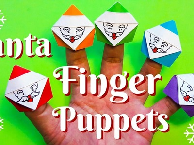 Paper Santa finger puppets Origami easy to fold easy to follow HD tutorial