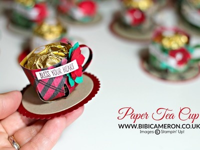 "Paper Tea Cup | Stampin"" Up!  Gift Bag Punch Board"