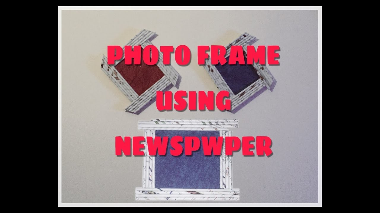 how to make photo frame at home with thermocol
