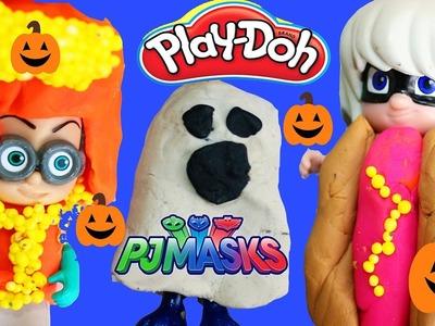 PJ MASKS Halloween Costumes DIY Play Doh Makeover Romeo Luna Girl Night Ninja Catboy Gekko Owlette