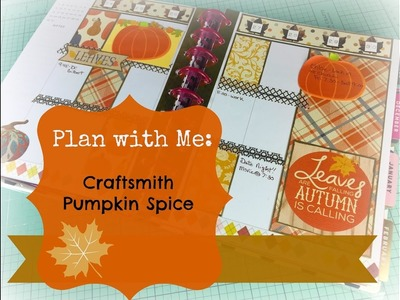 Plan with Me: Happy planner October 24th-30th Pumpkin Spice Paper Collection
