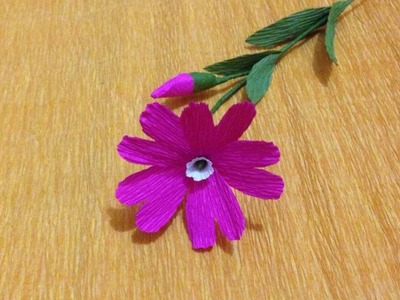 Red Campion Crepe Paper flowers - Flower Making of Crepe Paper - Paper Flower Tutorial