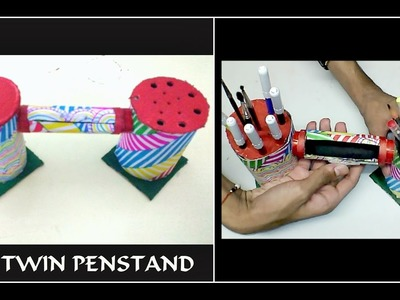 Twin Penstand with a Hidden Safe || DIY Pen holder || Homemade