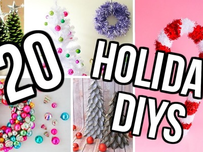 20 DIY Holiday Room Decor Project Ideas! DIY Christmas Decor!