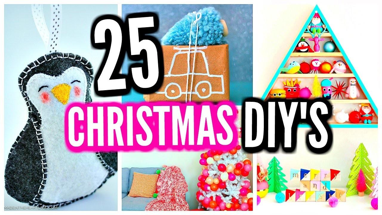 25 DIY Christmas Decorations! DIY Room Decor Ideas & Projects!