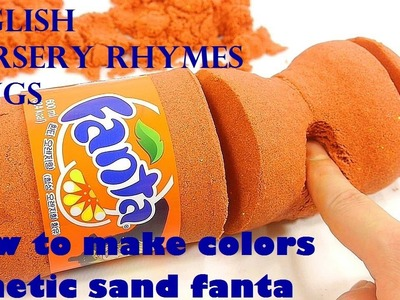Bob The Train   DIY   How To Make Colors Kinetic Sand Fanta   Learn Colors Orbeez Surprise Ice-cream