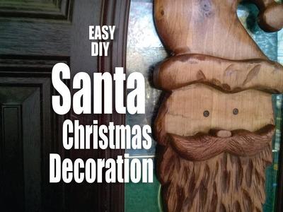 DIY Carved Santa Face Christmas Decoration