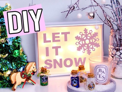DIY Christmas Decorations! Light up sign, Edible Tree & more! Cute Holiday & Winter projects!