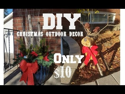 DIY | CHRISTMAS OUTDOOR DECOR ON A BUDGET!