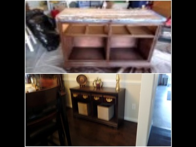 DIY. Dresser to Buffet Makeover