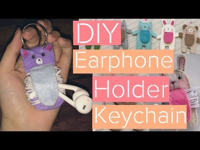 DIY Earphone Holder Keychain