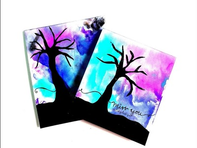 DIY - Easy Card Making for Kids and Beginners - Water Colored Cards