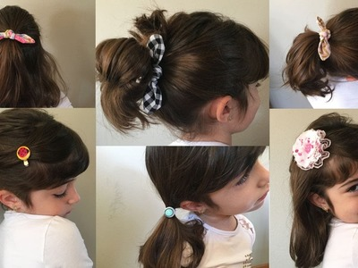 DIY - Easy hair clips and ties using scrap fabric - various styles