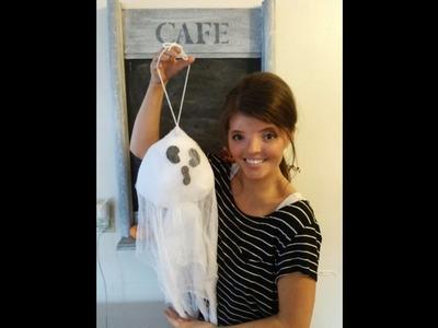 DIY Hanging Ghost Halloween Decor