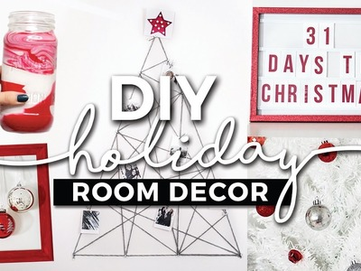 DIY Holiday Room Decorations! Easy Decor Ideas! + GIVEAWAY