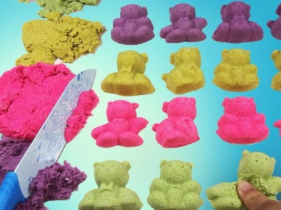 DIY How To Make Colors Kinetic Sand Bears - Easy homemade
