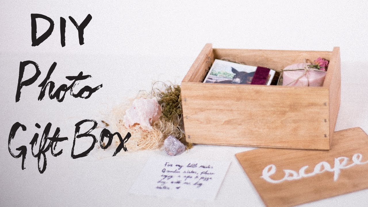 DIY Personalized Photo Gift Box