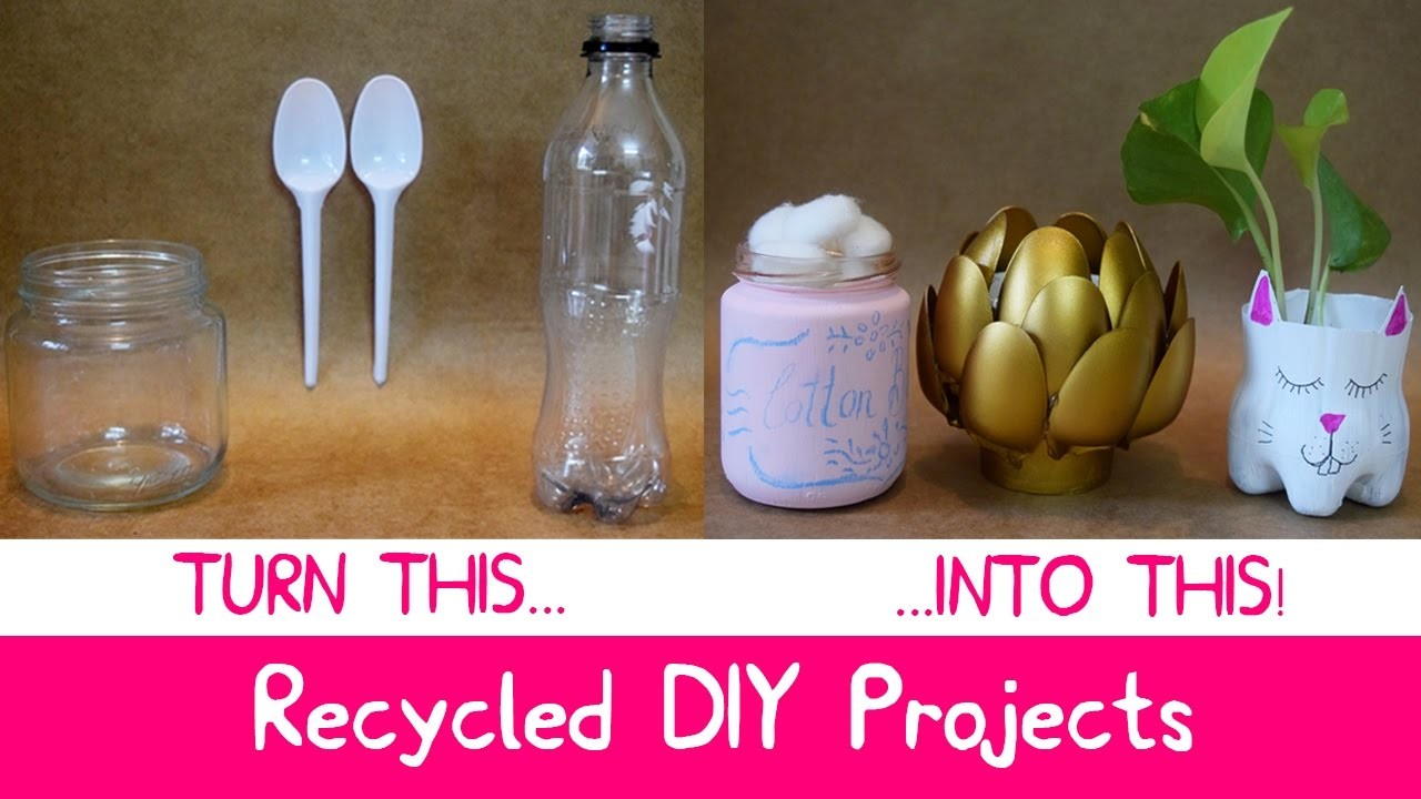 DIY Room Decor With Recycled Materials At Home