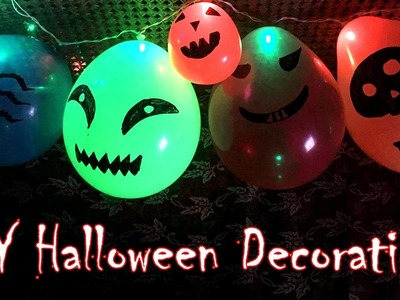 DIY: Spooky String Lights Balloons | Halloween Decorations | Last Minute Life Hack
