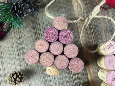 DIY Wine Cork Christmas Tree Ornament