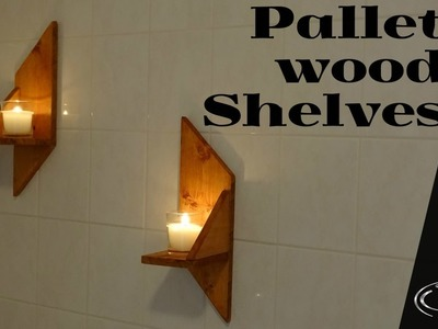 Easy pallet wood shelves for your bathroom. How to. DIY
