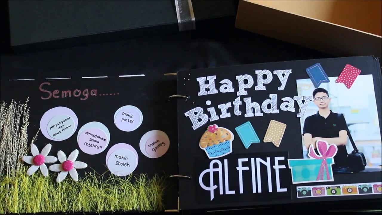 Happy Birthday Alfine (DIY Scrapbook)