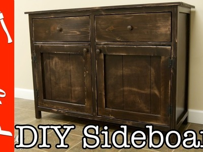 How To Build A DIY Sideboard. Buffet Cabinet | Crafted Workshop
