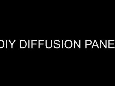 How to make DIY Scrim (diffusion panel)