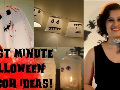 Last Minute DIY Halloween Decor Ideas | Flying Ghost Lamp, Spooky Devil Lights, Mummy Jars
