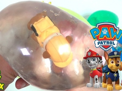 Learning Colors Paw Patrol StressBall Balloon Orbeez DIY Surprise Eggs Toys