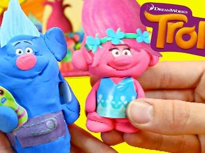 TROLLS PLAY-DOH Playset DIY Poppy Clay Doll & Crayola Biggie Doll With DisneyCarToys Sandaroo