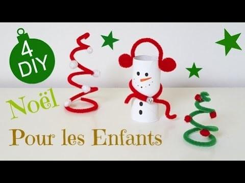 4 DIY Noël 2016 Bricolages pour Enfants. Christmas DIY for Kids