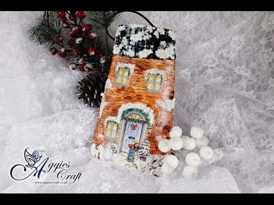Decoupage Tutorial - Christmas Roof Tile - DIY Tutorial